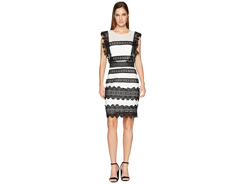 Nicole Miller Mini Dress (Black/Ivory) Women