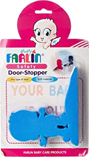 Farlin SAFETY DOOR STOPPER, Pink and Blue, Piece of 1