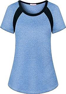 Misheep Womens Short Sleeve Yoga T-Shirt Cool Fitness Sport Top