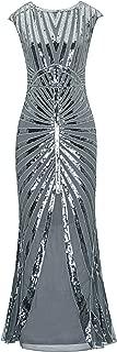 Women's 1920s Prom Dress Sequin Mermaid Maxi Long Flapper Formal Evening Gown