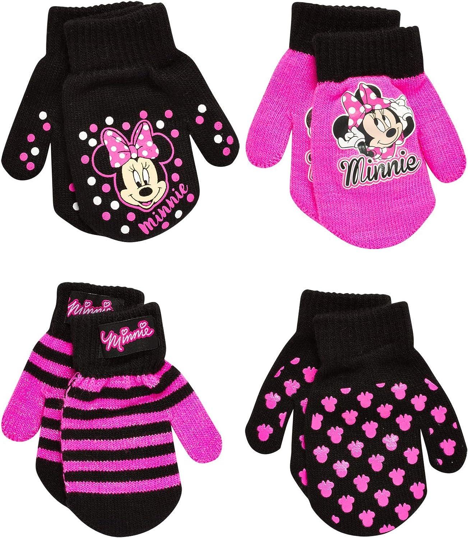 Disney Girls 4 Pack Gloves or Mittens : Minnie Mouse, Vamperina (Toddler/Little Girls)