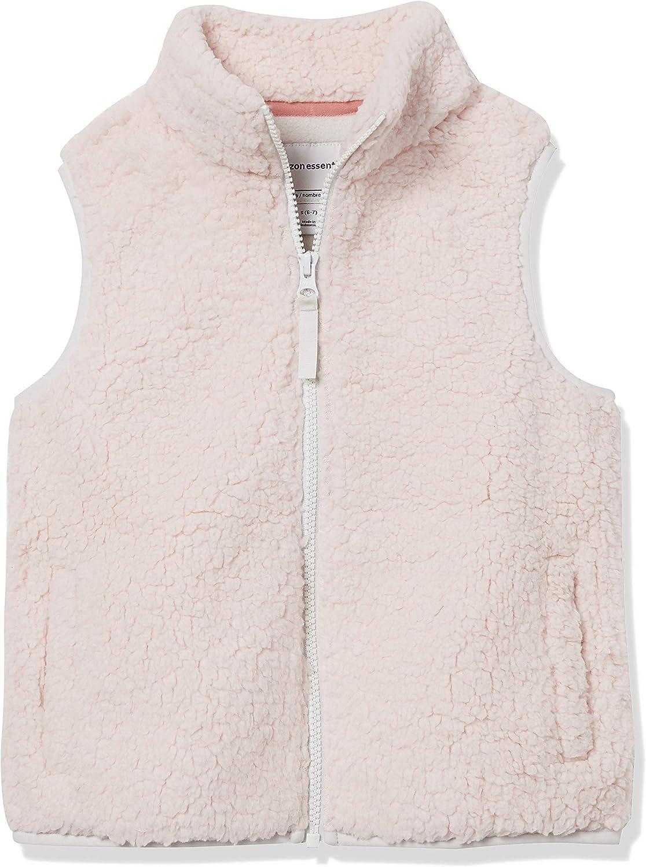 Amazon Essentials Girls' Fleece Max 89% OFF Vest Recommendation Sherpa