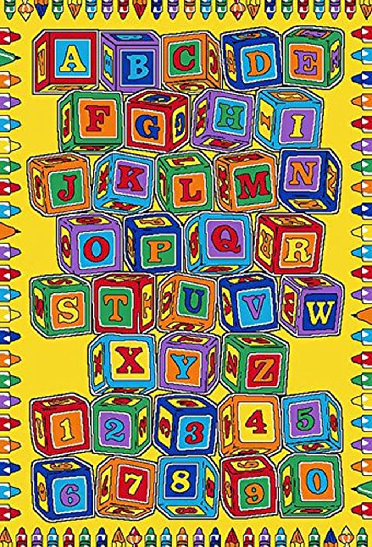 子供エリアラグ番号と文字盤教育学習練習場のためのカーペット教室ノンスキッドジェルバッキング少年少女のための楽しいカーペット,40×60cm