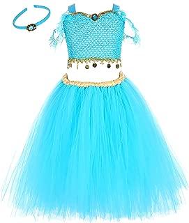 3pcs Jasmine Princess Costume Dress for Girls 1-12Y Birthday Halloween Party
