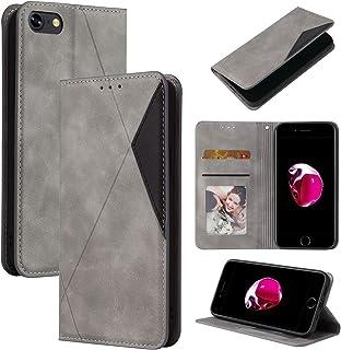 Lodroc LOYKB0500018 Hoes voor iPhone 8/7/iPhone SE 2020, TPU lederen hoes magnetische beschermhoes [kaartenvak] [standfunc...