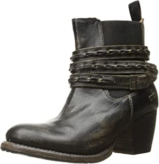 bed stu Women's Lorn Boot, Black Handwash, 9.5 M US