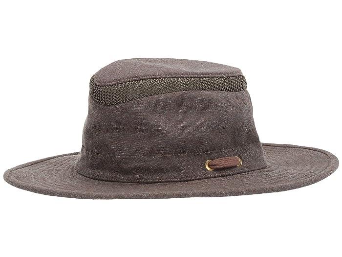 1960s – 70s Style Men's Hats Tilley Endurables AIRFLO Mash Up Brown Traditional Hats $90.00 AT vintagedancer.com