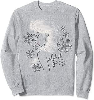 Disney Frozen Elsa Let It Go Profile Sketch Sweatshirt