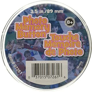 Memory Button 3-1/2-Clear Plastic
