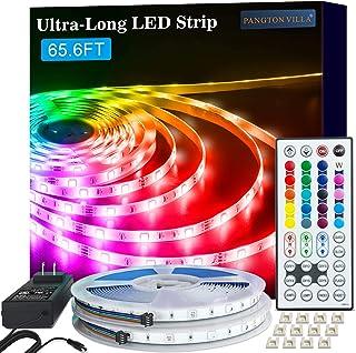 LED Strip Lights, 65.6ft RGB 5050 LED Lights for Bedroom, Room, Kitchen, Home Decor DIY Color Changing Led Light Strip Kit...