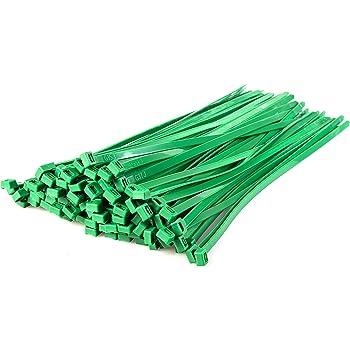 Gocableties 100 Stück Strapazierfähige Nylon Kabelbinder Hochwertig Robust 370 X 7 6 Mm Grün Baumarkt