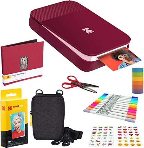 high quality KODAK Smile new arrival Instant Digital Printer (Red) Scrapbook new arrival Kit with Soft Case outlet sale
