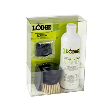 Lodge Enameled Cast Iron & Ceramic Stoneware Care Kit (Acrylic Box)