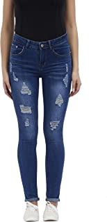 f797df1943d67 Women s Hight Waisted Butt Lift Stretch Ripped Skinny Jeans Distressed Denim  Pants