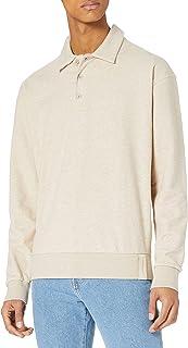 Scotch & Soda Men's Structured Felpa Sweat in Half-Zip Polo Styling Sweatshirt