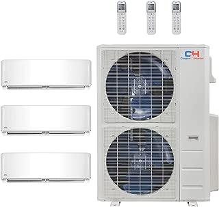 COOPER AND HUNTER Tri 3 Zone Mini Split Ductless Air Conditioner Heat Pump 18000 18000 18000 Multi