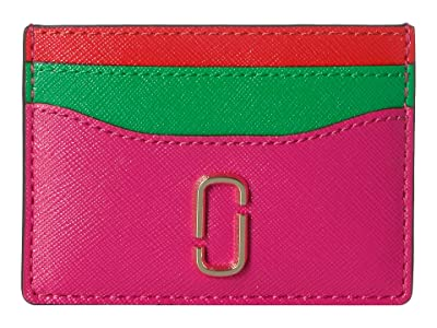 Marc Jacobs Snapshot Card Case (Diva Pink Multi) Credit card Wallet