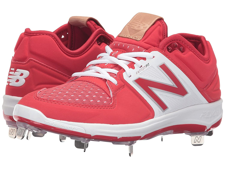 (ニューバランス) New Balance メンズ野球ベースボールシューズ?靴 L3000v3 Red/White 8 (26cm) EE - Wide