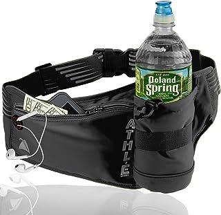 Athle Sport Running Belt with Vertical Bottle Pocket