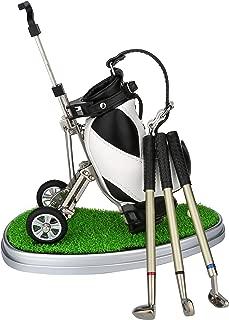 Golf Gift , Golf Pen Holder with Aluminum Alloy Golf Pens Mini Office Gift Golf Souvenir Tour Novelty Birthday Festival Gift For Golf Lover Father Boyfriend Husband Coworker Boss Friend