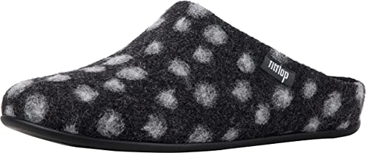 FITFLOP Womens Chrissie Dots Wool Shearling Slipper Shoes