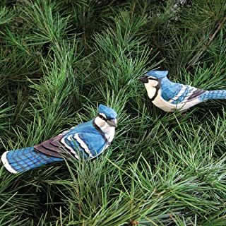 Blue Jay Clip Ornament, Assorted 2, 4.5