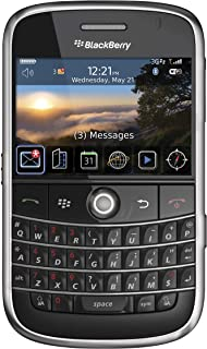 BlackBerry Bold 9000 Unlocked Phone with 2 MP Camera, 3G, Wi-Fi, GPS Navigation, and MicroSD Slot-International Version with No Warranty (Black) (Renewed)
