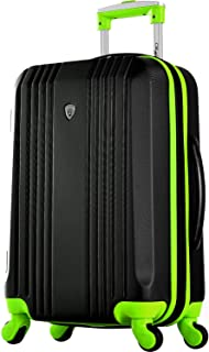 "Olympia Apache Ii 21"" Carry-on Spinner, Black/Lime"