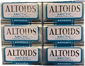 Altoids Arctic Wintergreen Mints     Altoids Mints   Wintergreen Breath Freshener   Pack of 6 Tins   1.2 oz Each Tin