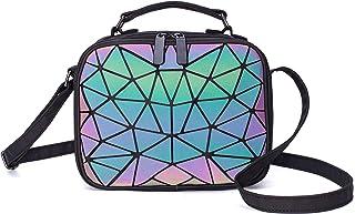 Suuran Geometrische Umhängetasche Holografische Geldbörsen und Handtaschen für Damenmode, leuchtende Umhängetasche mit Hol...