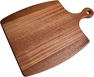 Wooden cheese tray, Vouko&artisan 12.99×9.05×0.59 inch Board Appetizer Serving Tray Cheese Steak Plates Cutting Board with Handle Multifunction, Dishwasher Safe