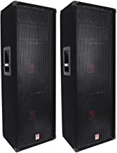 (2) Rockville RSG12.2 Dual 12 2000 Watt 3Way 4-Ohm Passive DJ/Pro Audio Speaker