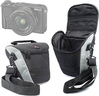 DURAGADGET Bandolera Negra Y Gris para La Cámara Nikon Coolpix A300 | A900 | B500 | B700 - con Correa Ajustable - Resistente Y Duradera