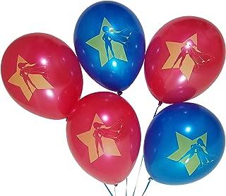 Superhero Girls Birthday Party Balloons – 25 Pack – Red, Blue