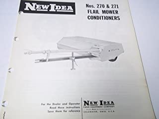 New Idea Nos. 270 & 271 Flail Mower Conditioners Operator's Manual