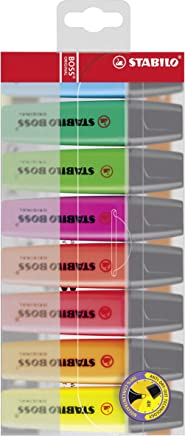 Highlighter - STABILO BOSS ORIGINAL Wallet of 8 Assorted Colours