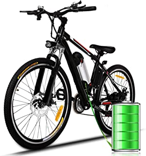 Plohee Electric Mountain Bike Adult 26'' Electric Bike with Removable 36V/8Ah Lithium-Ion Battery - Professional 21 Speed ...