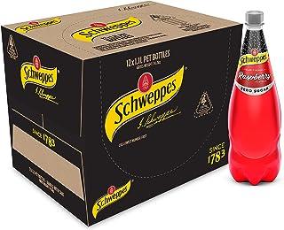 Schweppes Raspberry Zero Sugar Soft Drink, 12 x 1.1L