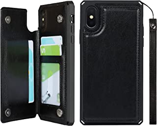 iCoverCase for iPhone Xs Max Wallet Case with Credit Card Holder Stand [RFID Blocking] Premium PU Leather Kickstand Magnet...