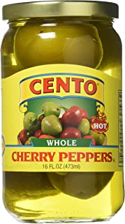 Cento Whole Cherry Peppers Hot, 16 Ounce (Pack of 12)