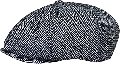 TOSKATOK® Unisex Mens, Ladies 8 Panel Herringbone Tweed Wool Blend Baker Boy Newsboy Flat Gatsby Hat Cap