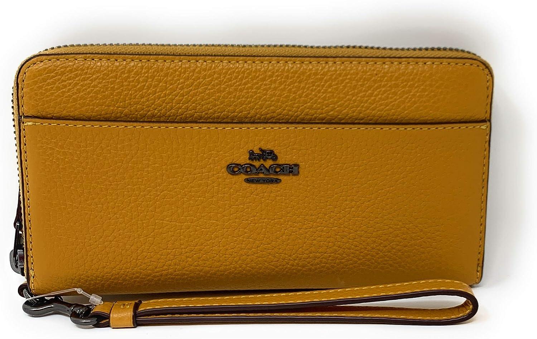 Coach Accordian famous Zip Phone Yellow NEW Wallet Wristlet