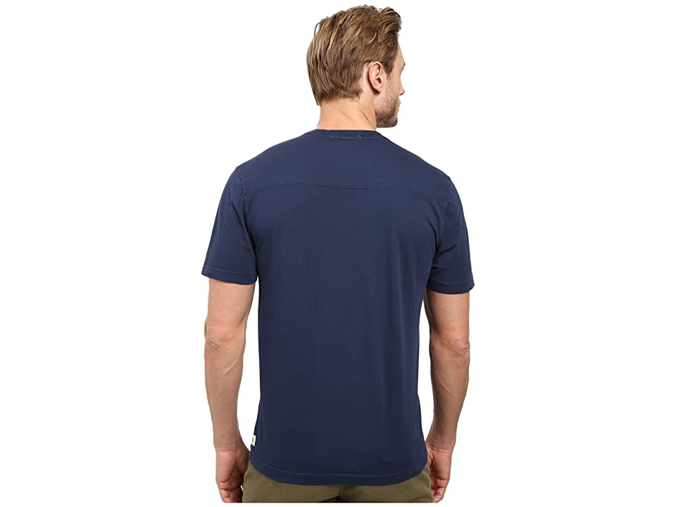 Agave Denim Agave Supima Vee Neck Short Sleeve Tee (Black Iris Navy) Men's T Shirt, Blue