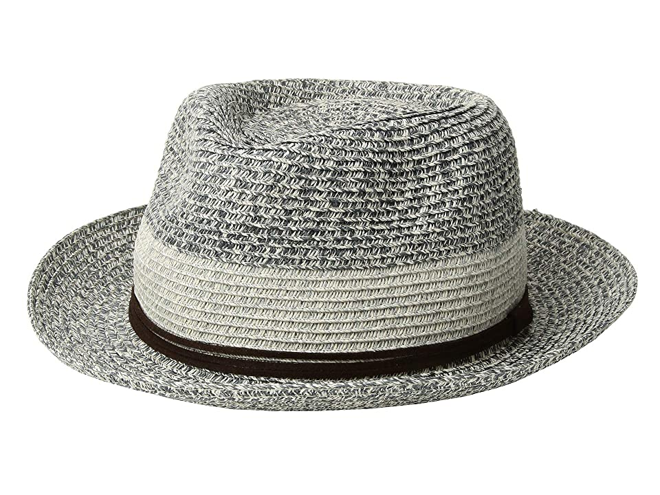 San Diego Hat Company PBF7333 Packable Fedora with Faux Suede Band (Navy) Caps