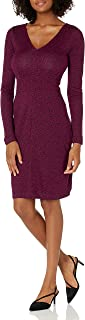 Lark & Ro Women's Sleeveless V-Neck Paneled Waist Sheath Dress