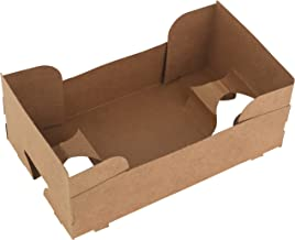 Paperboard 4 Corner Pop Up Food and Drink Stadium/Theater J-Type Tray by MT Products (25 Pieces)