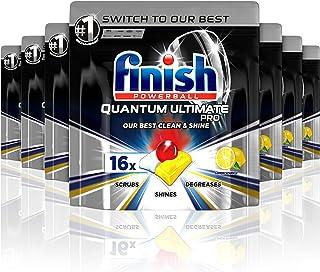 Finish Powerball Quantum Ultimate Pro Dishwasher Tablets, 112 Pack (7 x 16), Lemon Sparkle