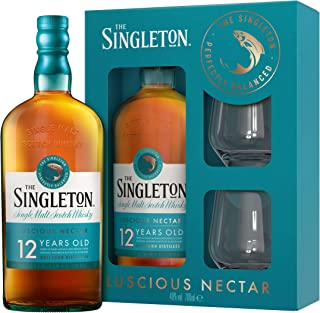 Singleton Of Dufftown 12 Years Whisky Box mit 2 Gläsern, Single Malt Scotch, Alkohol, Flasche, 40%, 700 ml, 761515