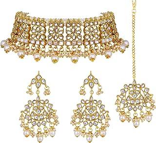 Elegant Indian Wedding Wear Faux Kundan Studded Choker...