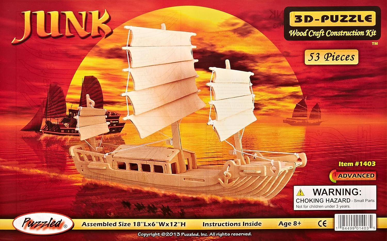 Puzzled, Inc. 3D Natural Wood Puzzle  Junk